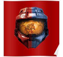 Red vs Blue Helmet Poster
