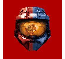 Red vs Blue Helmet Photographic Print