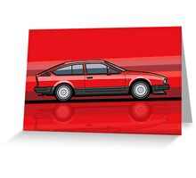 Alfa Romeo GTV6 Red Stripes Greeting Card