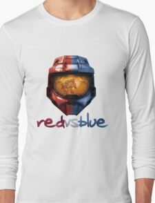 Red vs Blue Helmet with Logo Long Sleeve T-Shirt
