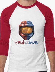 Red vs Blue Helmet with Logo Men's Baseball ¾ T-Shirt