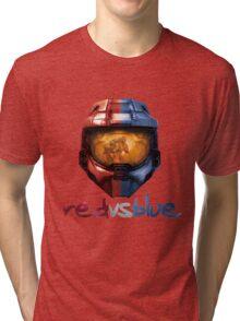 Red vs Blue Helmet with Logo Tri-blend T-Shirt