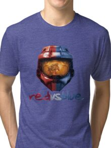 Red vs Blue Helmet with Logo Tri-blend T-Shirt