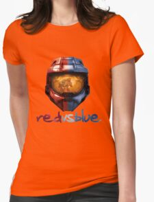 Red vs Blue Helmet with Logo Womens Fitted T-Shirt