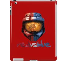 Red vs Blue Helmet with Logo iPad Case/Skin