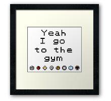 Pokemon gym- Johto Framed Print