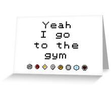Pokemon gym- Johto Greeting Card