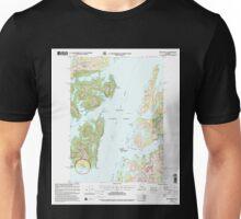USGS TOPO Map Alaska AK Seward B-3 358908 2000 63360 Unisex T-Shirt
