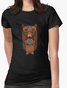 Mom and Baby Bear together Womens Fitted T-Shirt