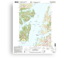 USGS TOPO Map Alaska AK Seward B-3 358908 2000 63360 Canvas Print