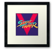 Super Street Fighter Five, 2: Turbo Impact Framed Print