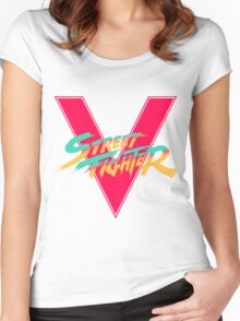 Super Street Fighter Five, 2: Turbo Impact Women's Fitted Scoop T-Shirt