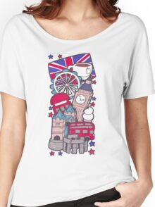 British Collage Women's Relaxed Fit T-Shirt