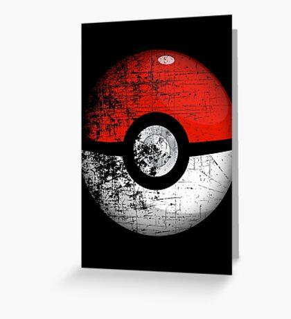Destroyed Pokemon Go Team Red Pokeball Greeting Card