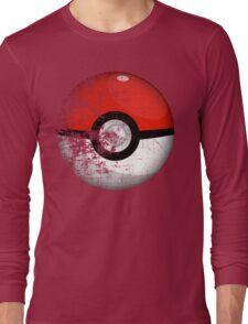 Destroyed Pokemon Go Team Red Pokeball Long Sleeve T-Shirt