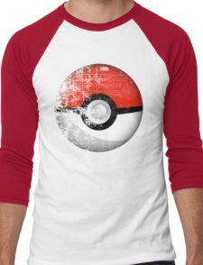 Destroyed Pokemon Go Team Red Pokeball Men's Baseball ¾ T-Shirt
