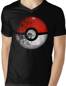 Destroyed Pokemon Go Team Red Pokeball Mens V-Neck T-Shirt