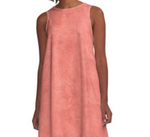Coral Reef Oil Pastel Color Accent A-Line Dress