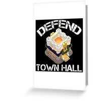 COC Clash of Clans - Defend Town Hall 11 Greeting Card