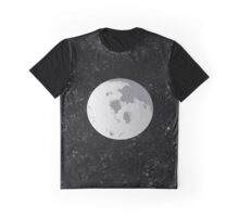 Night Sky Moon Graphic T-Shirt
