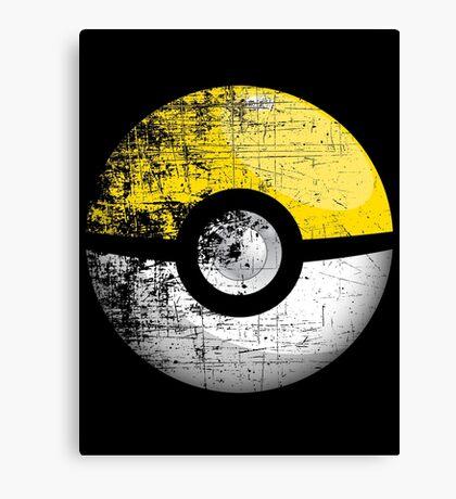 Destroyed Pokemon Go Team Yellow Pokeball Canvas Print