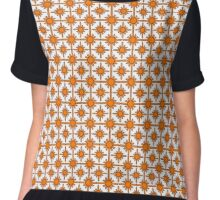 Orange Ordered Galaxy Chiffon Top