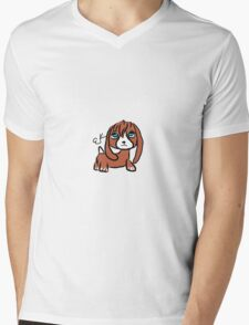 violet the dashshund Mens V-Neck T-Shirt