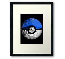 Destroyed Pokemon Go Team Blue Pokeball Framed Print