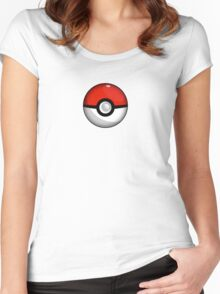 Pokemon Go Team Red Pokeball Women's Fitted Scoop T-Shirt