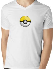 Team Yellow Pokeball Mens V-Neck T-Shirt