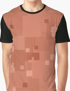 Canyon Sunset Square Pixel Color Accent Graphic T-Shirt
