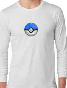 Team Blue Pokeball Long Sleeve T-Shirt