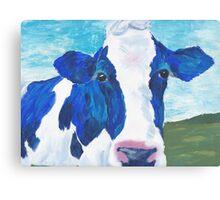 blue cow Canvas Print