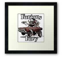 Furious Fury Framed Print