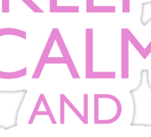Keep Calm and Support Breast Cancer Awareness Sticker