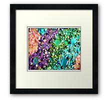coloured beads Framed Print