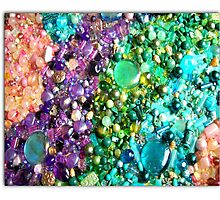 coloured beads Photographic Print