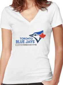 Toronto Blue Jays Women's Fitted V-Neck T-Shirt