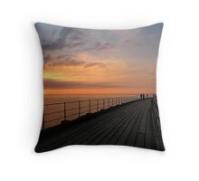 Whitby Sunset Throw Pillow