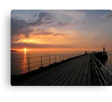 Whitby Sunset Canvas Print