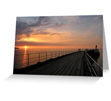 Whitby Sunset Greeting Card