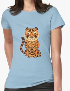 Mom and Baby Tiger together Womens Fitted T-Shirt