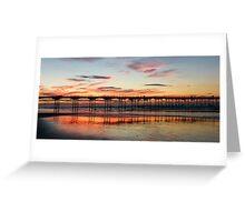 Saltburn Sunset Greeting Card