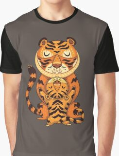 Mom and Baby Tiger together Graphic T-Shirt