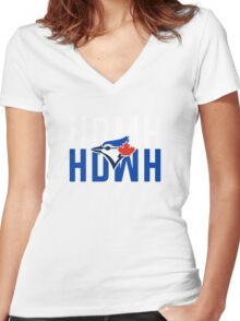 Marcus Stroman HDMH Blue Jays Women's Fitted V-Neck T-Shirt