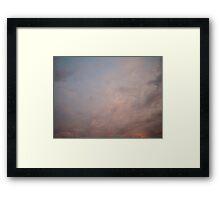 Sky magic: January 30, 2016 8:37 pm Framed Print