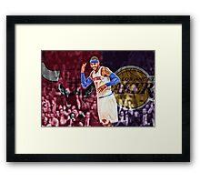 Carmelo Anthony Designs Framed Print