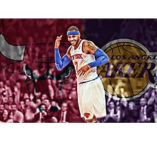Carmelo Anthony Designs Photographic Print