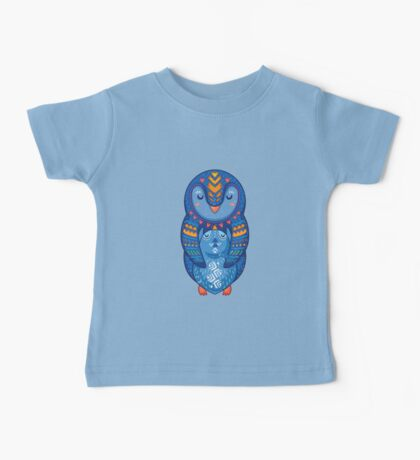 Mom and Baby Penguin together Baby Tee