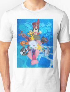 Swirl of peppy pups Unisex T-Shirt